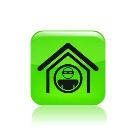 Vector illustration of single isolated home thief icon Stock Vector - 12129258