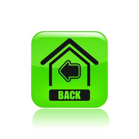 Vector illustration of single isolated back home icon Vector