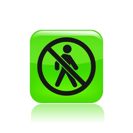 autorizacion: Ilustraci�n vectorial de un solo icono de acceso prohibido aislado
