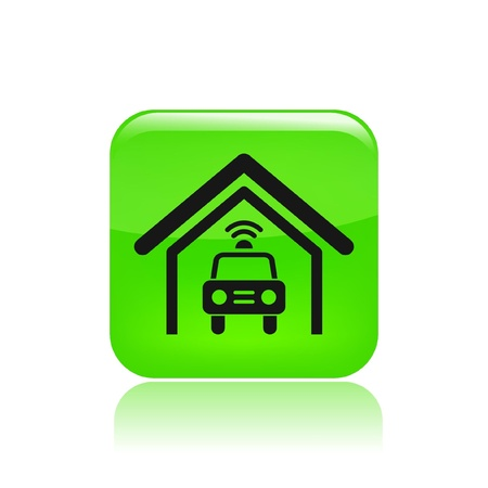 Vector illustration of single isolated police car icon Stock Vector - 12129321