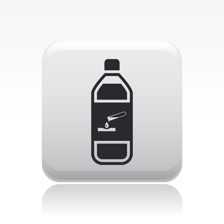 Vector illustration of single isolated dangerous bottle icon Stock Vector - 12127849