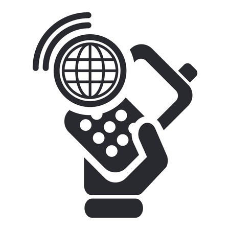 cordless phone: Vector illustration of single isolated smartphone connection icon