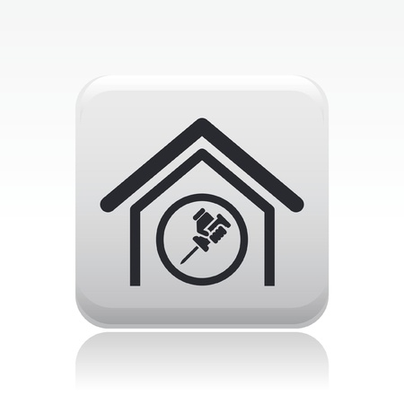 adjust: Vector illustration of single isolated home adjust icon Illustration