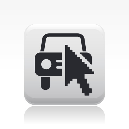 Vector illustration of single isolated web car icon Vector