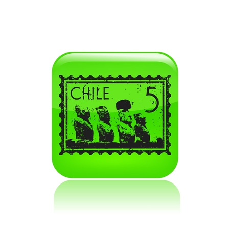 chilean: Vector illustration of single isolated Chile icon Illustration