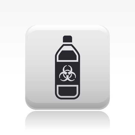 Vector illustration of single isolated dangerous bottle icon Stock Vector - 12125570