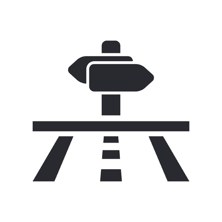 cartel: Vector illustration of single isolated navigate icon