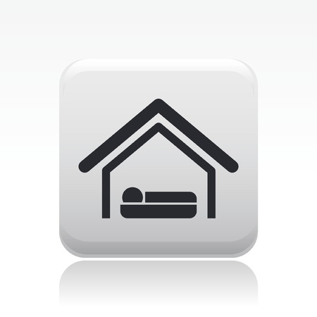 Vector illustration of single isolated hotel icon Vector