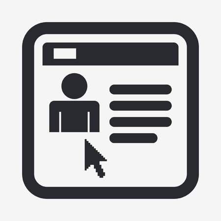 Vector illustration of single isolated personal ID icon Illustration