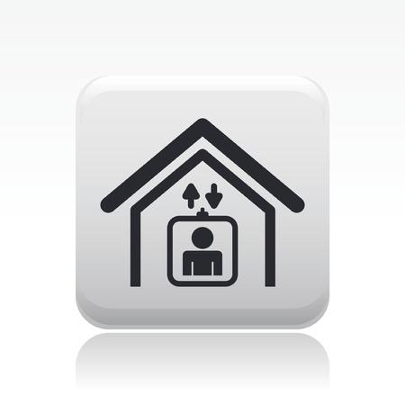 domicile: Vector illustration of single isolated elevator icon Illustration