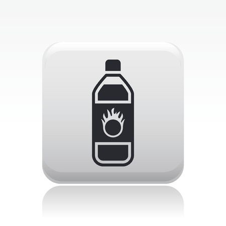 Vector illustration of single isolated danger bottle icon Stock Vector - 12127823