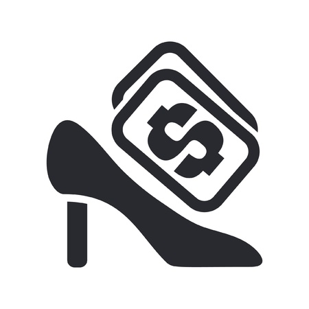 Vector illustration of single isolated shoe price icon Stock Vector - 12127590