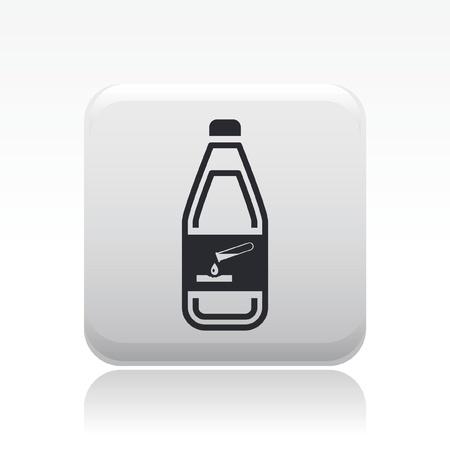 Vector illustration of single isolated dangerous bottle icon Stock Vector - 12127873
