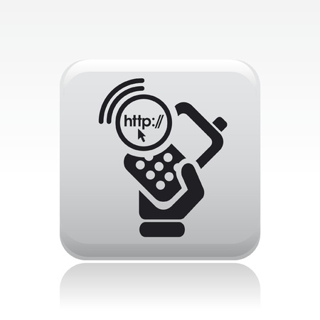 cellulare: Vector illustration of single isolated phone connection icon