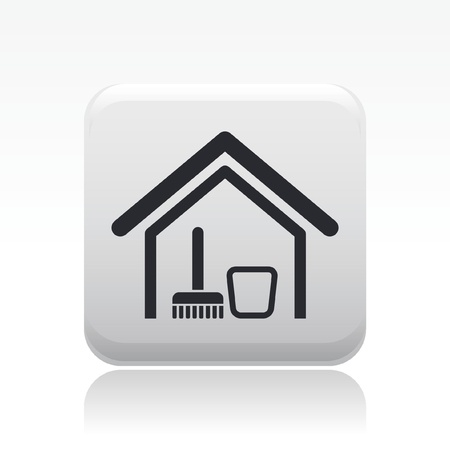 Vector illustration of single isolated home clean icon Vector