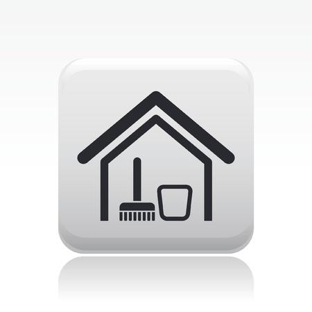 Vector illustration de l'icône isolé maison individuelle propre