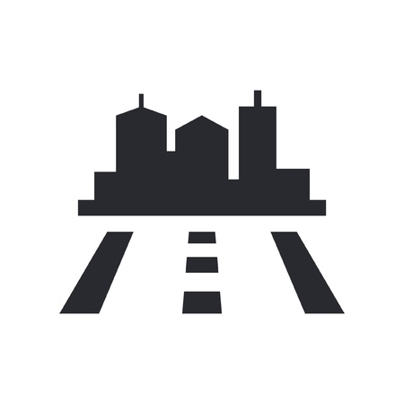 directions icon: Vector illustration of single isolated road icon