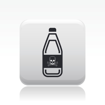 Vector illustration of single isolated danger bottle icon Stock Vector - 12128103