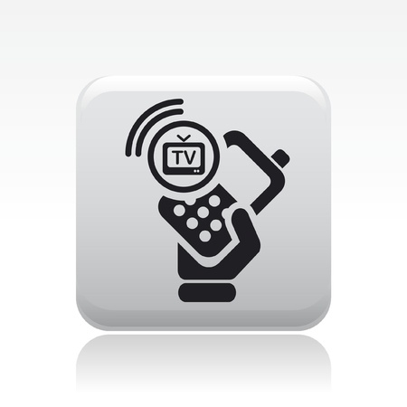 Vector illustration of single isolated tv-phone icon Vector