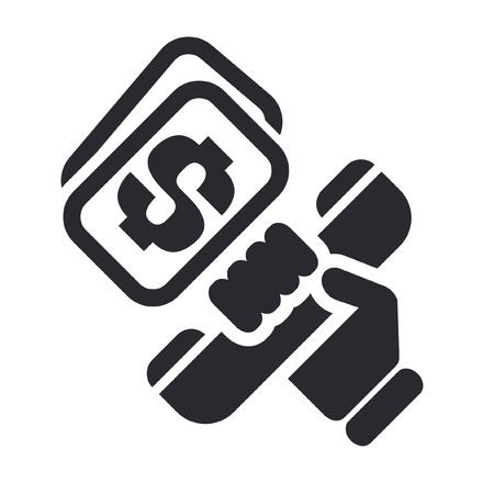 Vector illustration of single isolated phone price icon Illusztráció