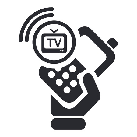 cellulare: Vector illustration of single isolated tv-phone icon Illustration