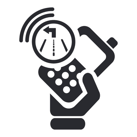 cellulare: Vector illustration of single isolated navigator phone icon