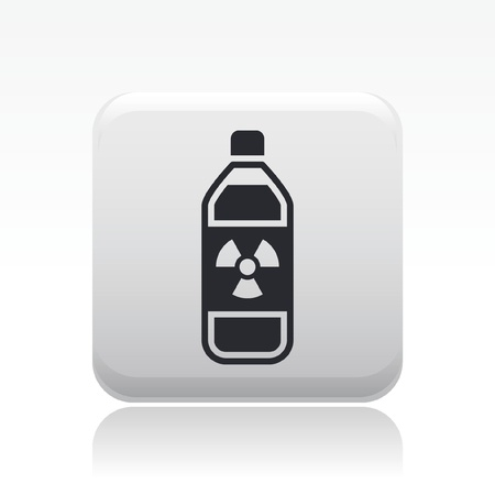 combustible: Vector illustration of single isolated radioactive bottle icon
