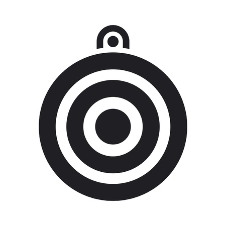 Vector illustration of single isolated target icon Stock Vector - 12127207