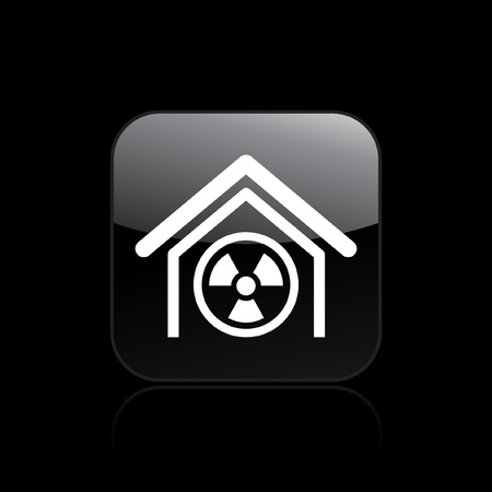 Vector illustration of single isolated radioactive icon Stock Vector - 12127256