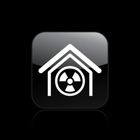 Vector illustration of single isolated radioactive icon Stock Vector - 12127256