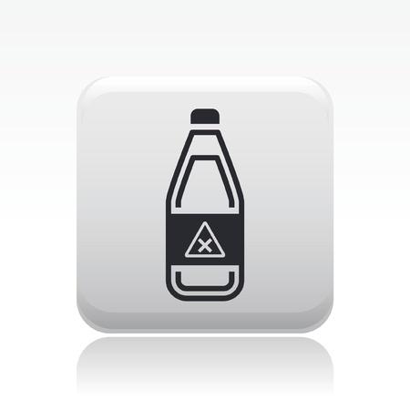 Vector illustration of single isolated danger bottle icon Stock Vector - 12127842