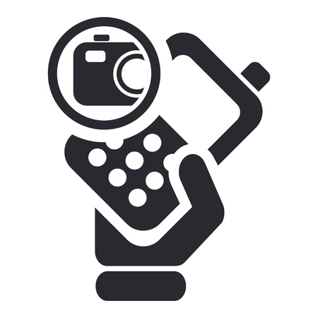 Vector illustration of single isolated camera phone icon