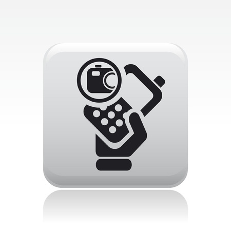 Vector illustration of single isolated camera phone icon Stock Vector - 12127000