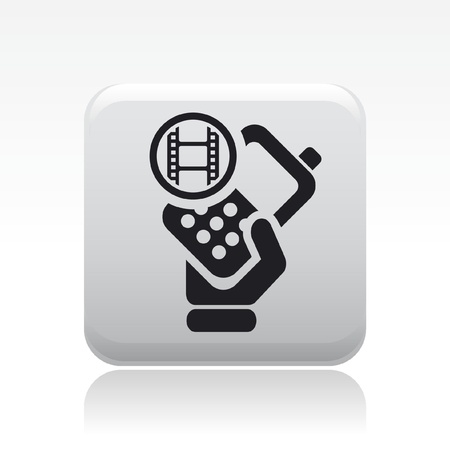cellulare: Vector illustration of single isolated video phone icon