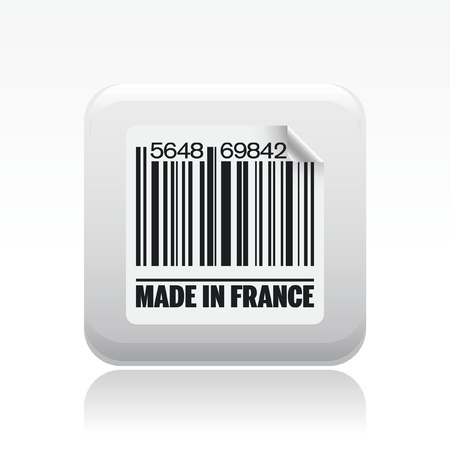 made in france: Vector illustration of single isolated made in France icon