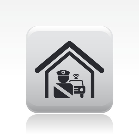 Vector illustration of single isolated police station icon Stock Vector - 12127036