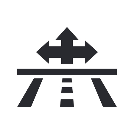 navigate: Vector illustration of single isolated navigate icon