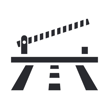 frontier: Vector illustration of single isolated barrier icon Illustration