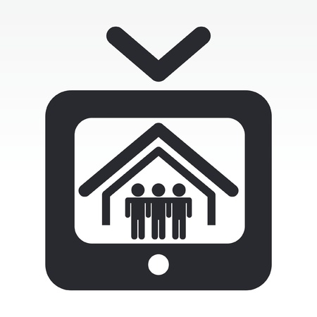 Vector illustration of single isolated tv reality icon Vectores