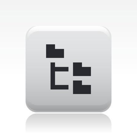 Vector illustration de la seule isolé pixel icône