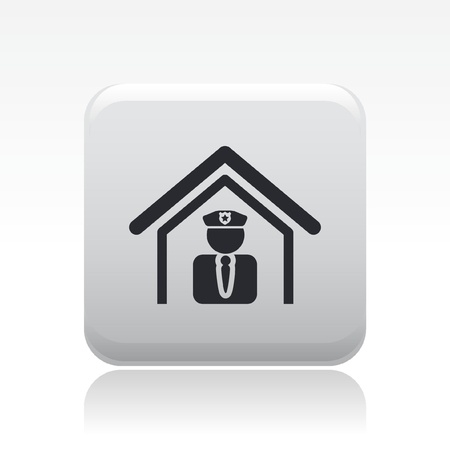Vector illustration of single isolated police icon Stock Vector - 12126914