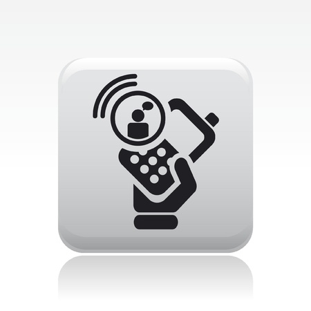 Vector illustration of single isolated chat smartphone icon Stock Vector - 12126998