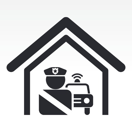 Vector illustration of single isolated police station icon Stock Vector - 12124580