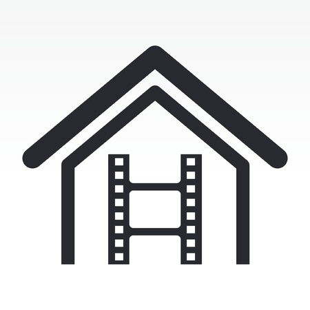 Vector illustration of single isolated cinema icon Vectores