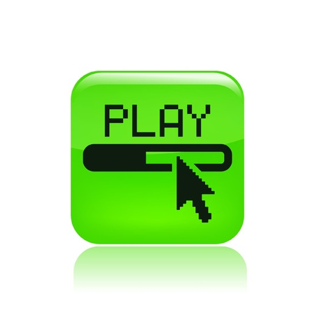 Vector illustration of single isolated play icon