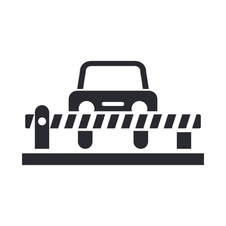 alt: Vector illustration of single isolated car barrier icon