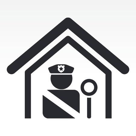Vector illustration of single isolated police station icon Stock Vector - 12124568