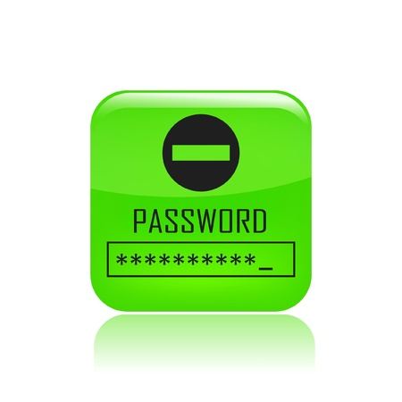 credentials: Vector illustration of single isolated password icon