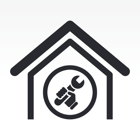 bricolage: Vector illustration of single isolated home bricolage icon Illustration