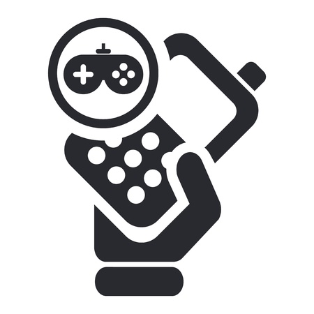 Vector illustration of single isolated phone game icon Stock Vector - 12124575